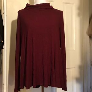 ANTHROPOLOGIE: tunic, cowl neck, long sleeve, xl